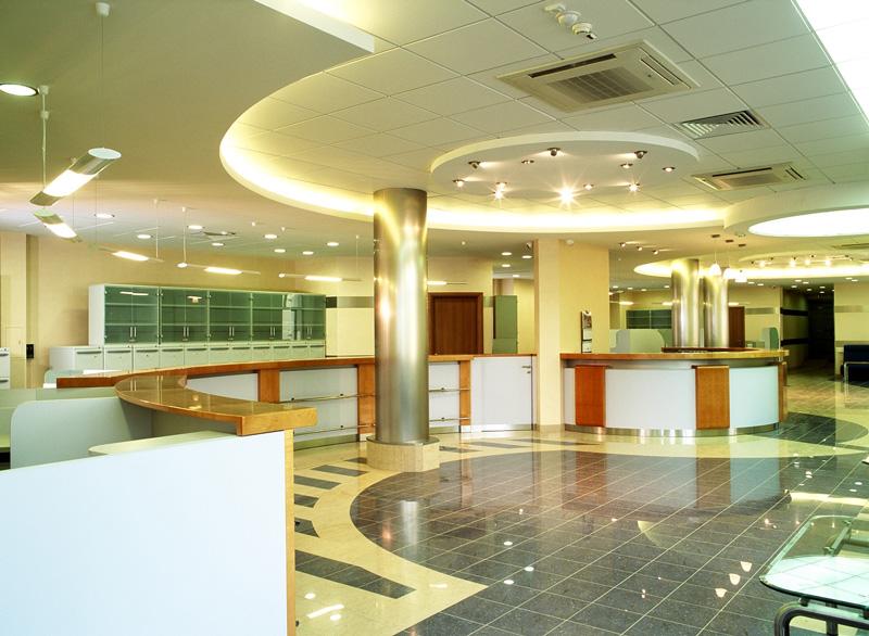 Дизайн интерьера банков
