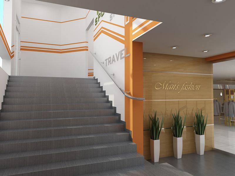 Торговый центр спорт холл лестница