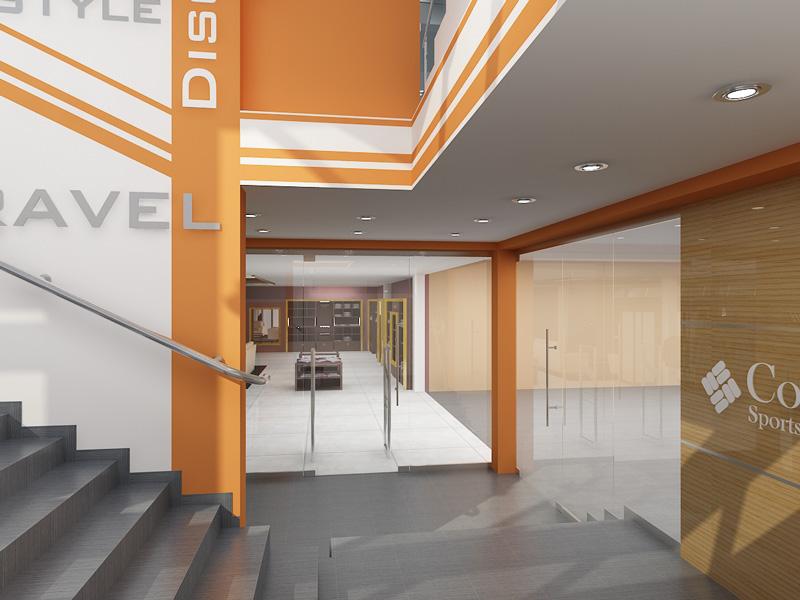 Торговый центр спорт холл интерьер
